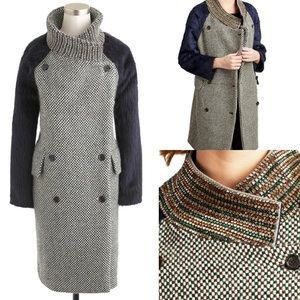 J CREW Tweed/Alpaca Coat Size 2